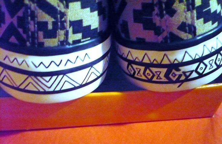 Aztec shoes pattern