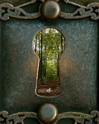 Alice in Wonderland, White Rabbit, Key Hole, Fine Art Photograph, 16x20, Whimsical