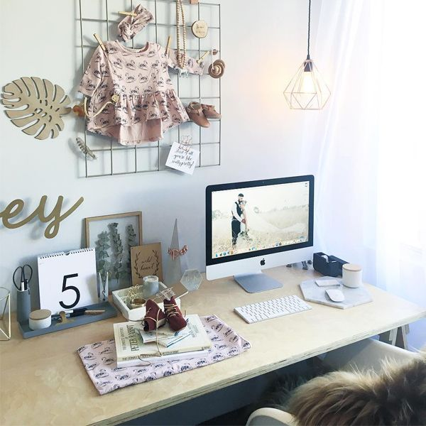 The Mocka Trestle Desk, styled by Kyree Meagher of Miss Kyree Loves. Shop Now at www.mocka.co.nz