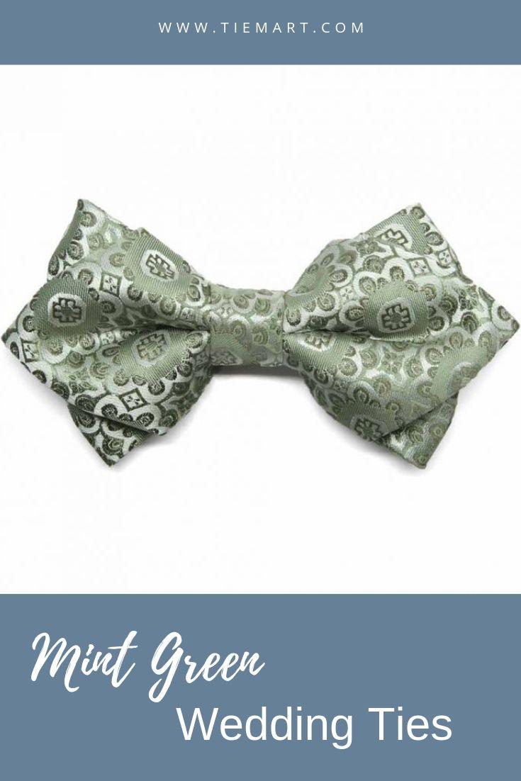 TieMart Silver Band Collar Bow Tie