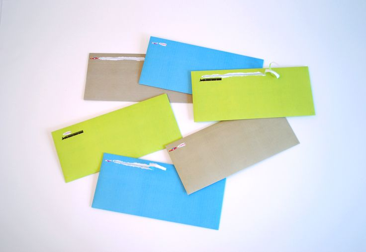 """「Booooon!」These envelopes were conceived to enhance the pleasure and anticipation of opening a letter. Pull the tab on the envelope to produce a trail of """"smoke""""… the envelope opens as the vehicle takes off with an exuberant """"Booooon!"""""""