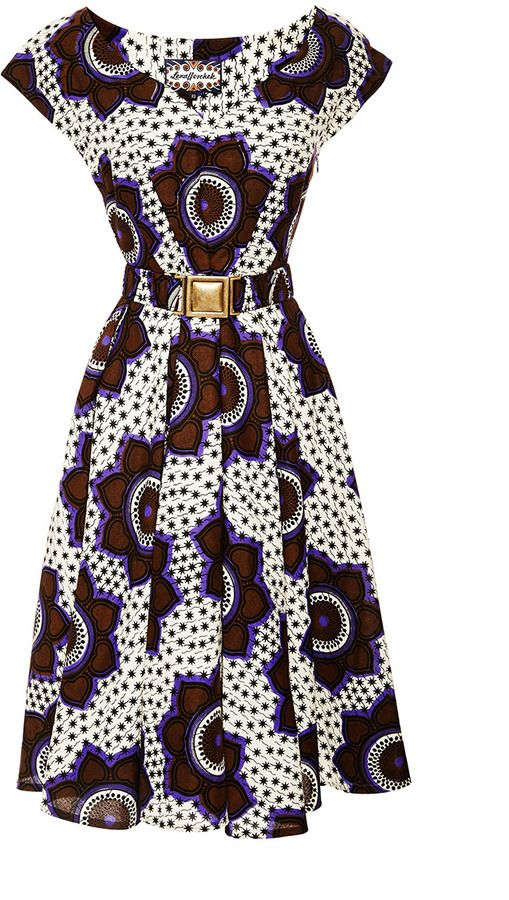 Lena Hoschek Chocolate Stars Makeba Dress - dress for pear bodyshape