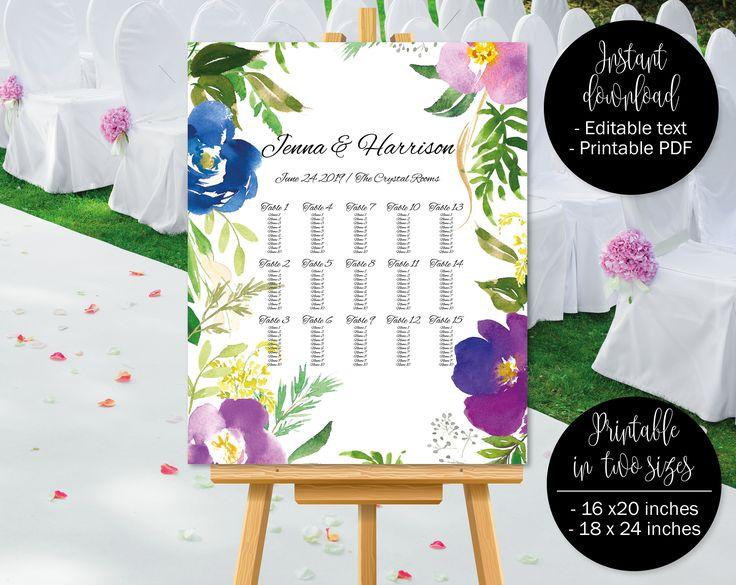 De 15 beste bildene om Wedding table plan chart templates to - seating chart templates