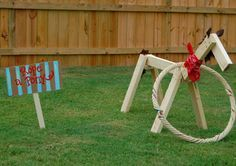 homemade+country+fair+photobooth | When the animals left, the kids played rope a pony (Papa Joe and G ...