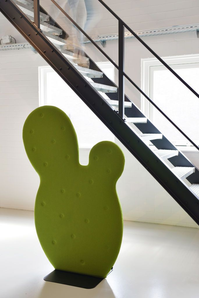 BuzziCactus is a funny shaped acoustic room divider by BuzziSpace