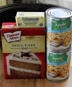 Super einfacher Crock Pot Apple Spice Dump Cake