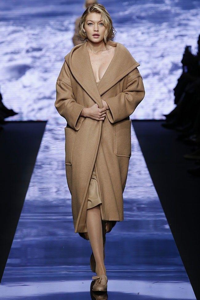 Gigi Hadid walks the runway at Max Mara's fall-winter 2015 runway