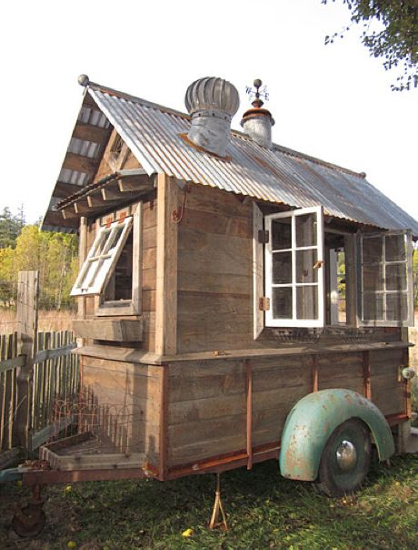 Rustic trailer shed/coop/food truck