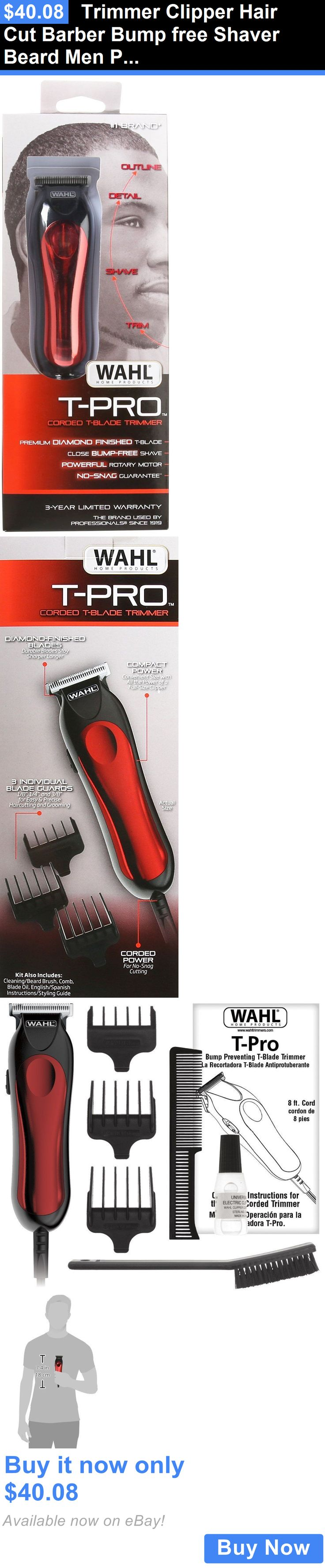 Shaving: Trimmer Clipper Hair Cut Barber Bump Free Shaver Beard Men Professional Kit Body BUY IT NOW ONLY: $40.08