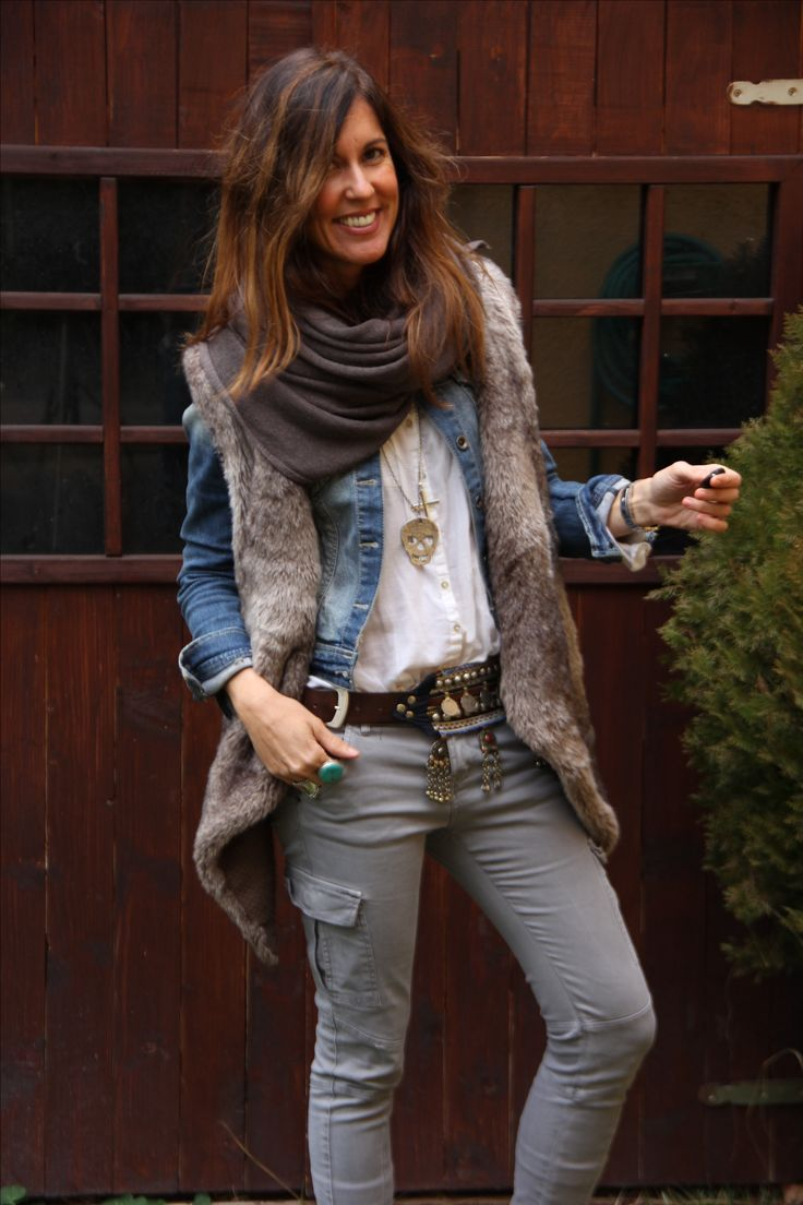 Boho winter layers via fashion blogger, mytenida. Love her ...