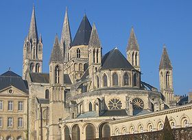 My 27th Great Grandfather, Hugh de Rozel, had many ties to the Abbey of St. Stephen in Caen. He and his brother Robert de Betram witnessed the charter for the foundation of the abbey ordered by William the Conqueror.  Hugh de Rozel retired in 1079 here joining the fraternity after a very active life serving William the Conqueror.  Hugh was one of the monk attendants to William the Conqueror's grave at St. Stephens. Hugh de Rozel also lies to rest at St Stephens.