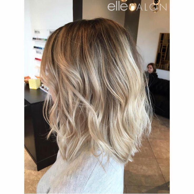 Verliebt in diesen langen strukturierten Bob! Hair von @teresa_elle_salon – #ateresa #Bob #d …