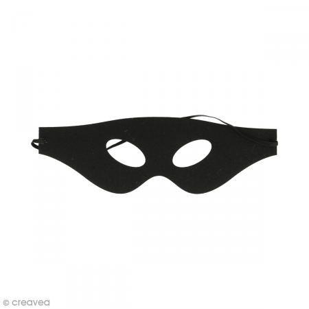 Máscara de fieltro - Lobo negro - Fotografía n°1