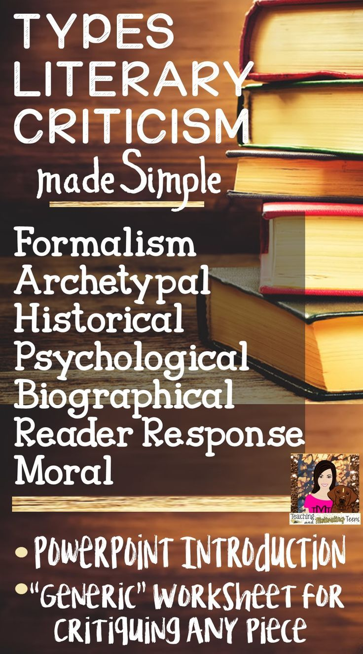 "This product contains: (1) an editable introduction to literary criticism explaining the purpose and process of criticism - critiques (written broadly enough to relate to criticism of any art form), (2) a ""generic"" and editable student worksheet guiding them through a critical review of ANY work of fiction."