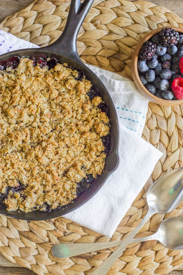This Triple Berry Skillet Crisp is so good, I made it two days in a ...