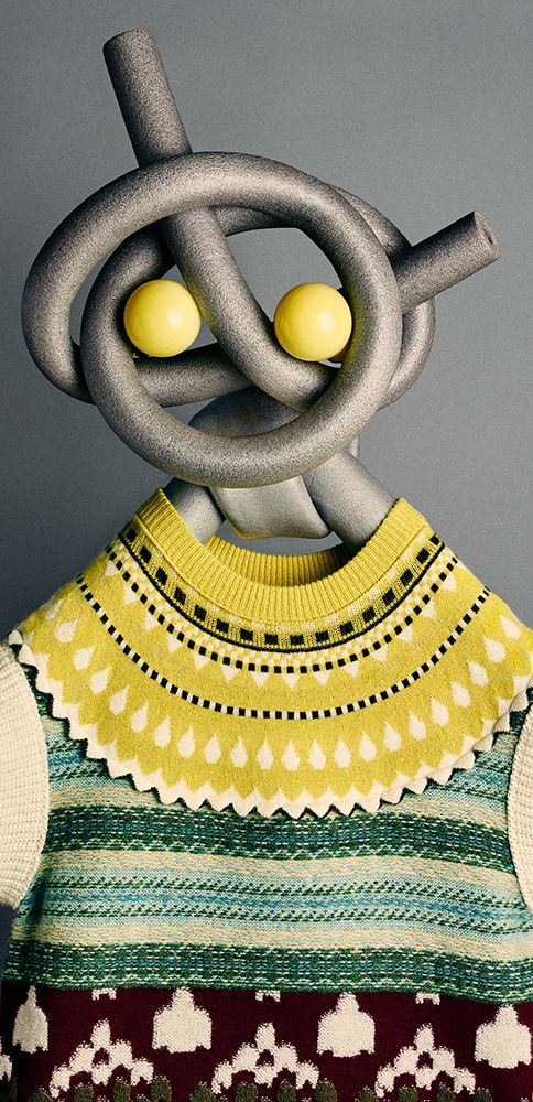 A Burberry Fair Isle multi-knit cashmere wool sweater.