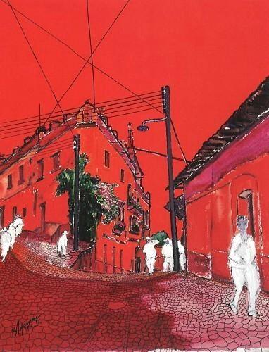 'A Corner in Mexico' (1963) by Burhan Doğançay
