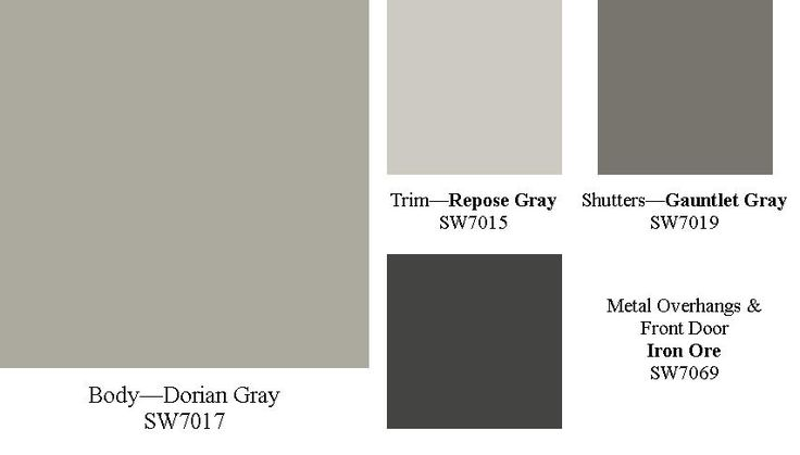 Sherwin Williams Exterior Paint Colors | Sherwin-Williams Strip D & Iron Ore
