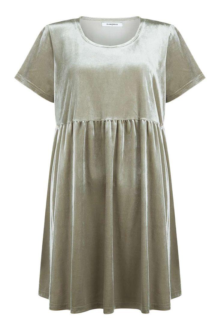 **Velvet Smock Dress by Glamorous