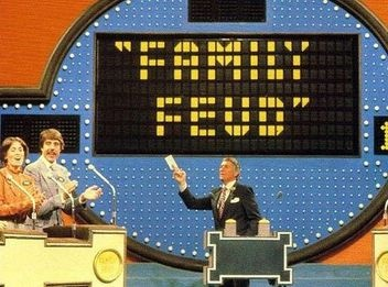 "1976 - ABC premiers this new game show ""Family Fued"" starring Richard Dawson who once starred in ""Hogan's Heroes"". He was especially known for kissing all the female contestants."