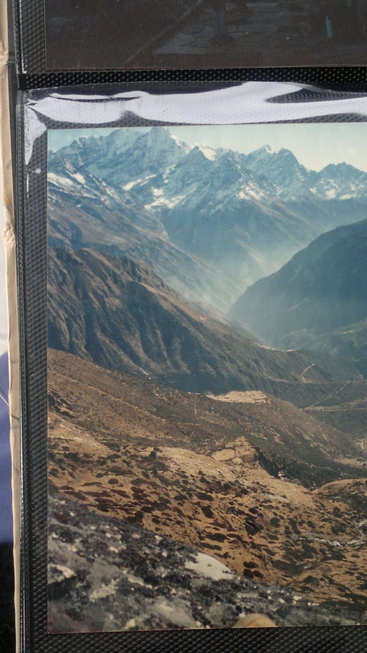 This is the view from the window I occupied during my 1986 visit to Lawudo Gompa in the Everest Region... http://www.amazon.com/Awareness-Comes-Knocking-Story-Shades-ebook/dp/B00B5PP6CQ