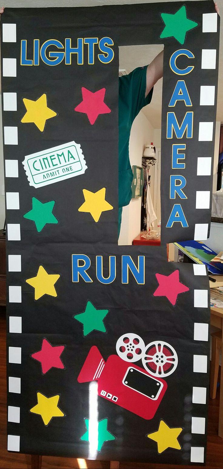 Hollywood, Box Office, Movie Theme School Door