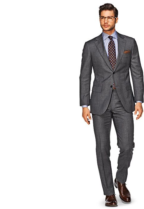 Suit Grey Plain Napoli P3457i | Suitsupply Online Store