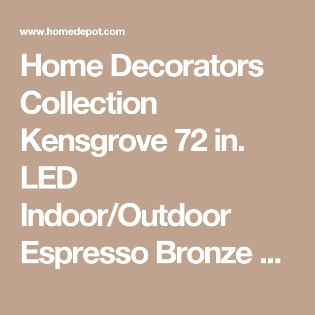 Home Decorators Collection Kensgrove 72 in. LED Indoor/Outdoor Espresso Bronze Ceiling Fan with Light Kit and Remote Control YG493OD-EB at The Home Depot - Mobile