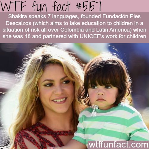 How many languages does Shakira speak - WTF fun facts