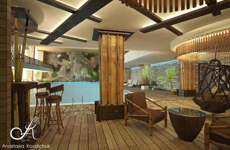 Дизайн бассейна в частном клубе