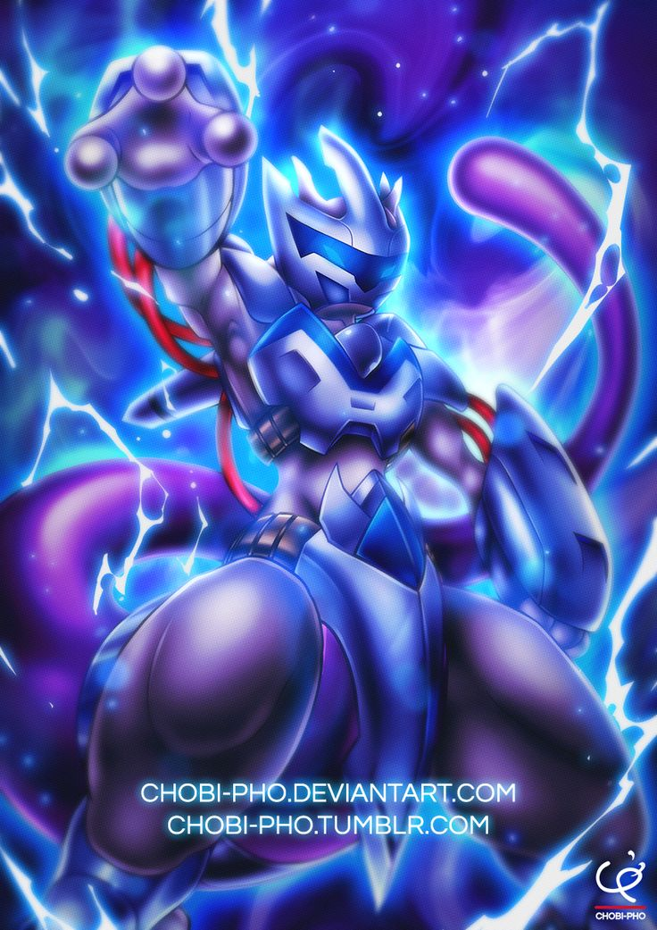 WHO'S THAT POKEMON?! by CHOBI-PHO.deviantart.com on @DeviantArt (Mewtwo)