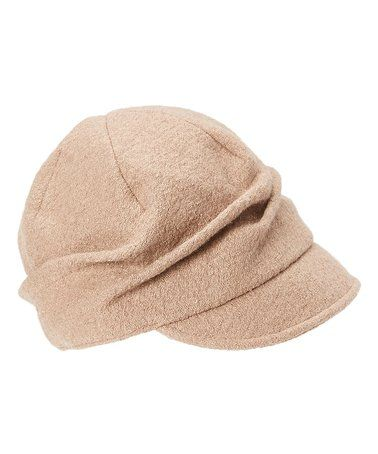 f90bd300244 Loving this Camel Pleated Wool-Blend Cap on  zulily!  zulilyfinds ...