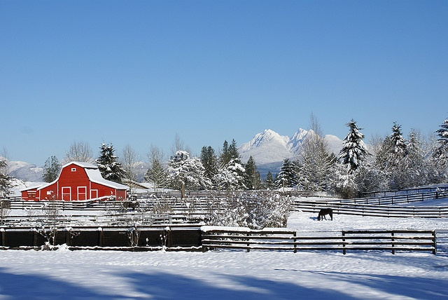 """Great shot of """"The Red Barn"""" at the corner of Glover and Telegraph Trail. (not quite Walnut Grove)"""