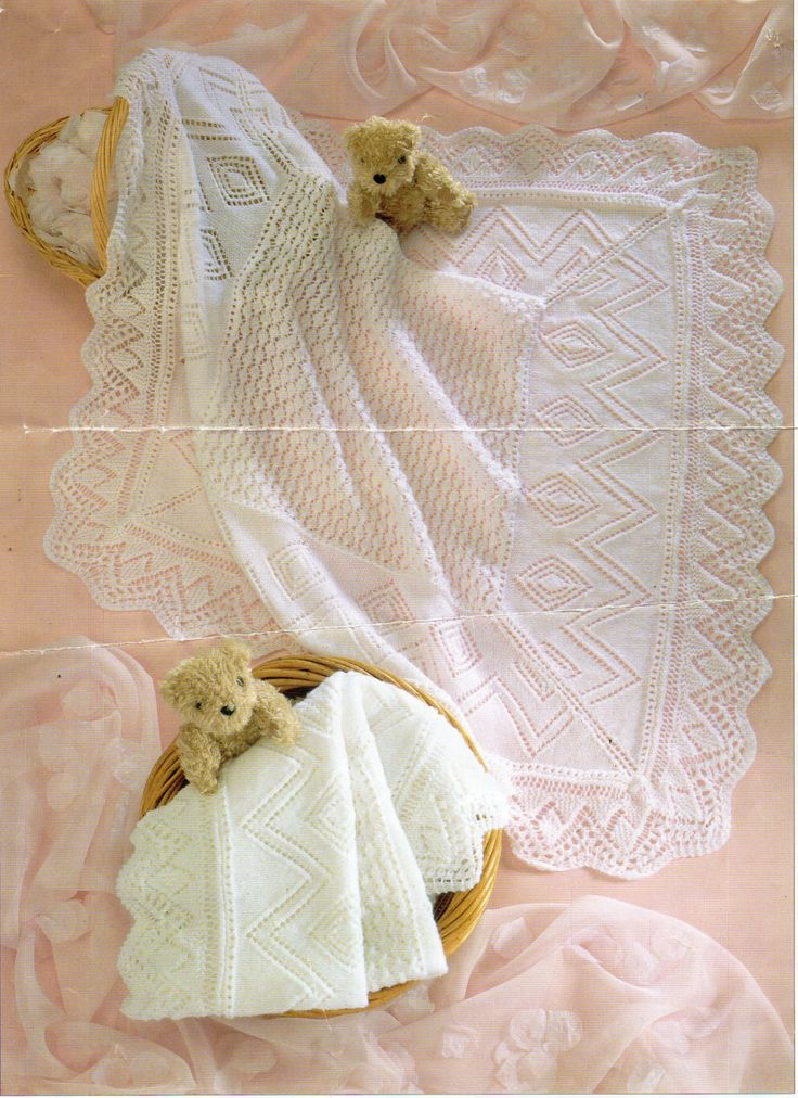 55 best Vintage Baby shawls & blankets knitting Knit ...