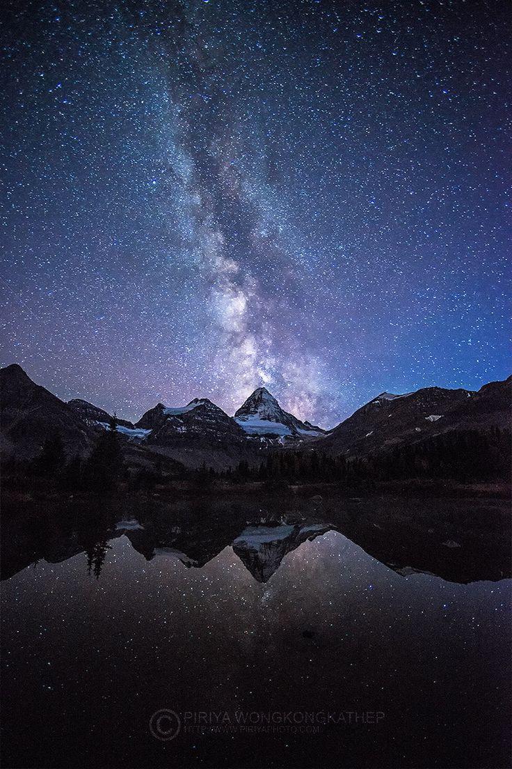 The Milky Way over Mount Assiniboine