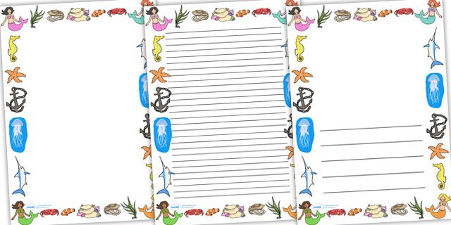 Preview Create a Postcard Activity Projects to Try Pinterest - printable writing paper with border