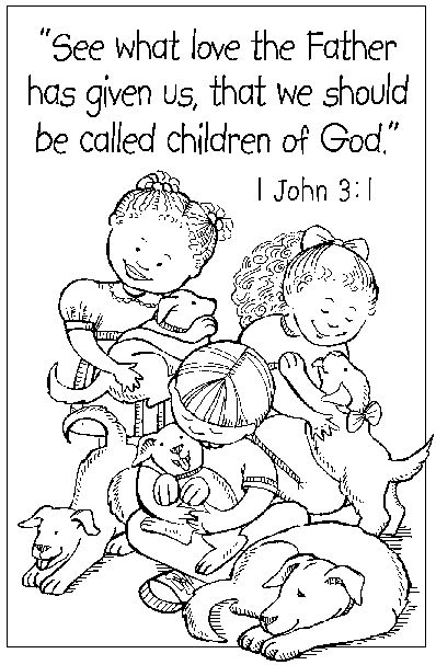 Catholic Coloring Page Perfect For Teaching About Baptism And Being A Part Of Gods Family Easter PagesKids