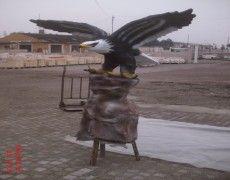 Flying Eagle Statue large pedestal