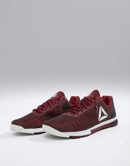 79b6db6bbce Reebok Training speed tr flexweave sneakers in burgundy cn5502 ...