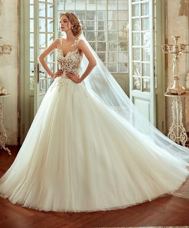 vestido-de-novia-corte-princesa-y-cuerpo-de-encaje | vestidos! en