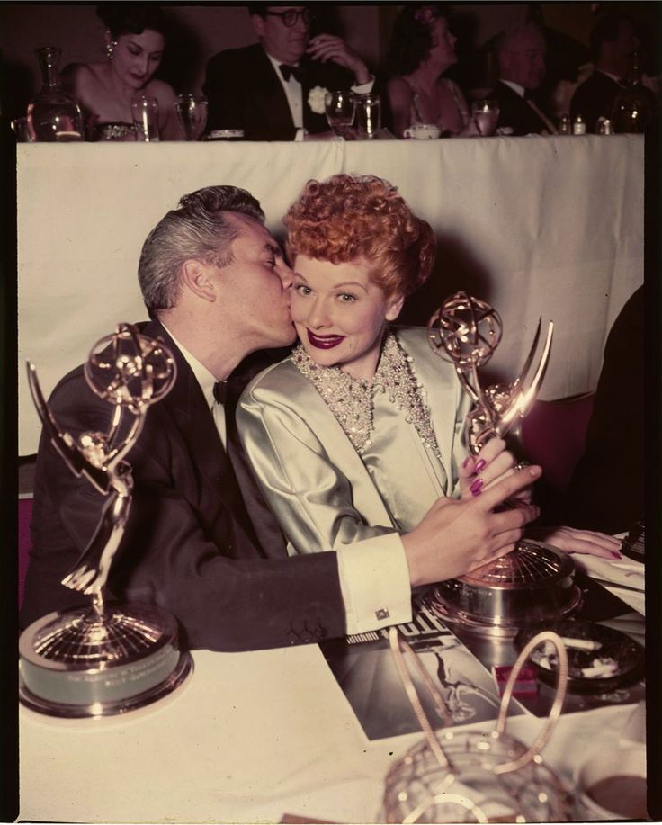 Lucille Ball and Desi Arnaz: Awards Ceremony, Lucil Ball, Emmy Awards, Desi Arnazi, Arnaz Ilovelucy, Desi Arnez, Lucy Ball, I Love Lucy, Lucy Lucille Ball
