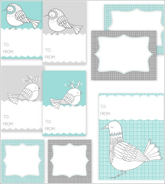Cute little birdies! Free Christmas holiday gift tag printables. Find more at the blog!: Birds Gifts, Tags Printable, Free Prints, Holidays Gifts, Winter Birds, Gifts Tags, Free Printable, Printable Gifts, Diy Projects