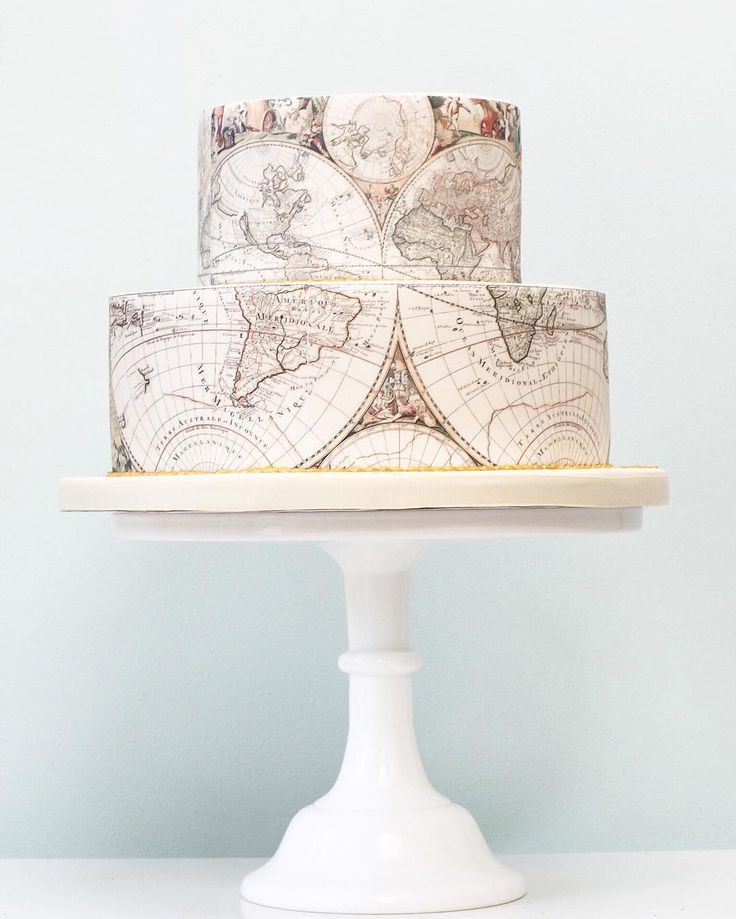 Map cake for an explorer!