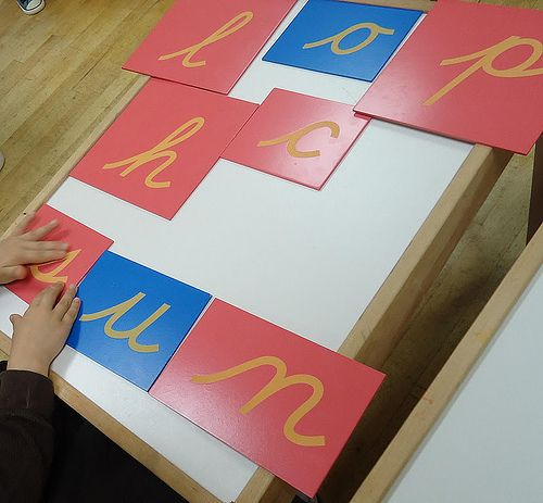 Inexpensive and DIY Sandpaper Letters  Multiple links regarding Montessori teaching, cheap resources, and DIY