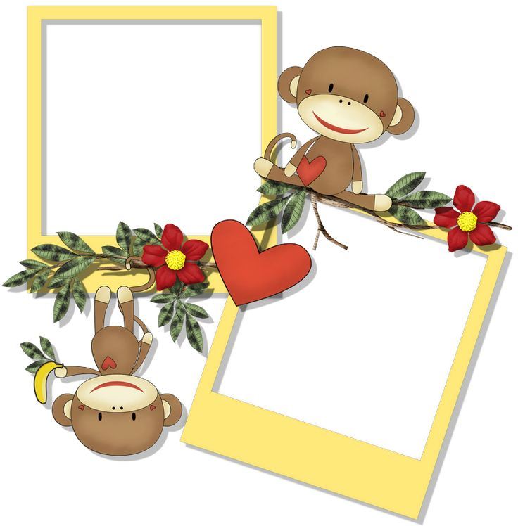 cheyokota digital scraps sock monkey freebies - Monkey Picture Frame