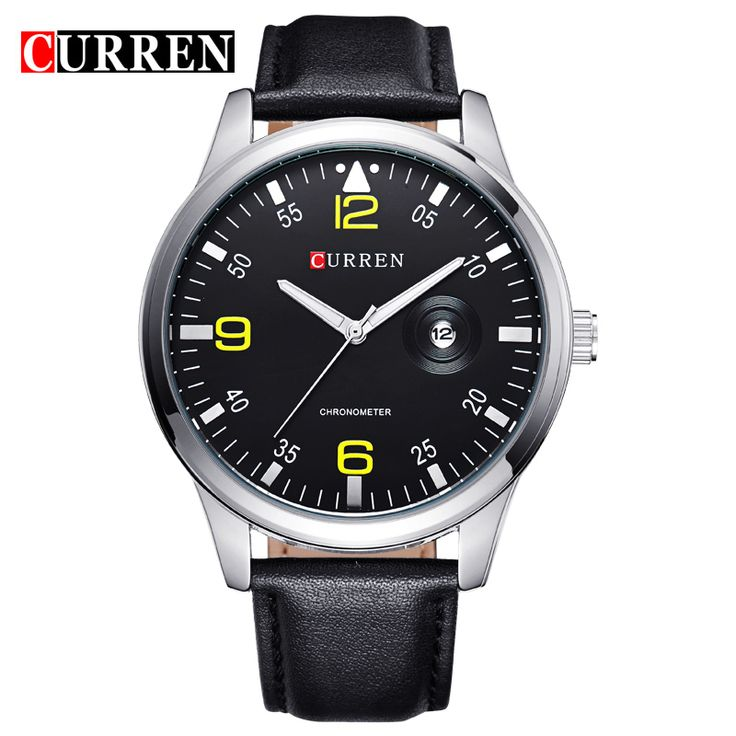 Find More Casual Watches Information about Luxury Casual Watch Men Quartz Casual Business Watch Genuine Leather Wristwatch relogio relojes Hombre CURREN New 2016 Auto Date,High Quality watch pillow,China watch mobile phone q8 Suppliers, Cheap watch whistle from Tiny Boutique World on Aliexpress.com