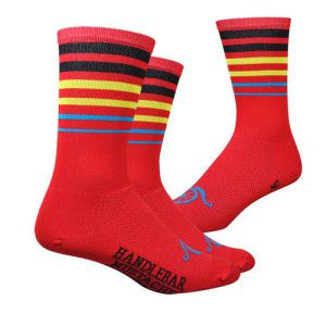 Handlebar Mustache Between The Lines Belgie socks