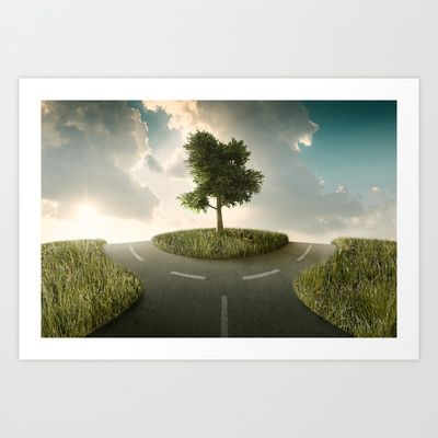 Crossroads Art Print by Jordygraph - $15.60