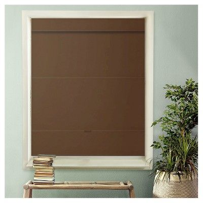 """Chicology Cordless Magnetic Roman Shades Mountain Chocolate (Brown) (48""""X 64"""")"""