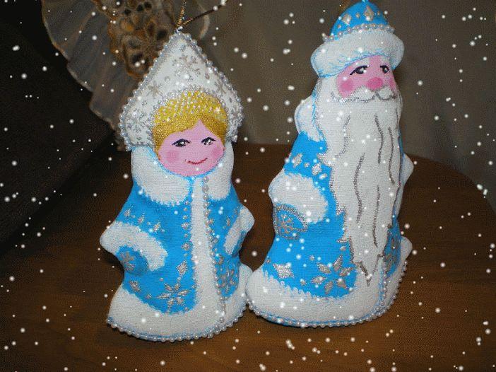 Умей-ка!: Зимний мастер-класс: Дед Мороз и Снегурочка - елоч...